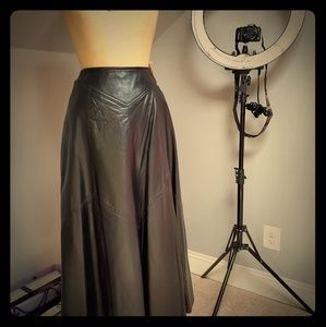 Saks Fifth Ave Leather Skirt